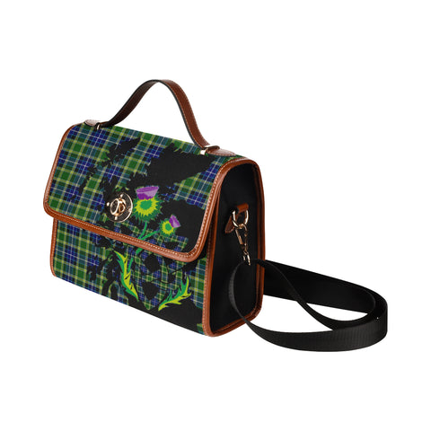 MacKellar Tartan Map & Thistle Waterproof Canvas Handbag| Hot Sale