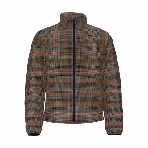 Image of Kennedy Weathered Clan Scotland Tartan  Men's Lightweight Bomber Jacket K9