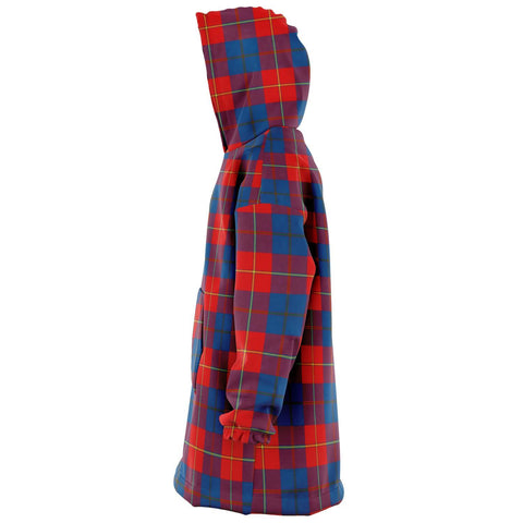 Galloway Red Snug Hoodie - Unisex Tartan Plaid Left