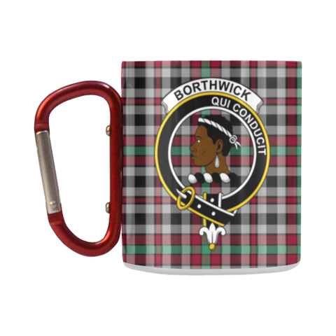 Borthwick Ancient  Tartan Mug Classic Insulated - Clan Badge K7
