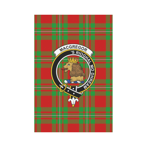 Image of Macgregor Modern Tartan Flag Clan Badge K7