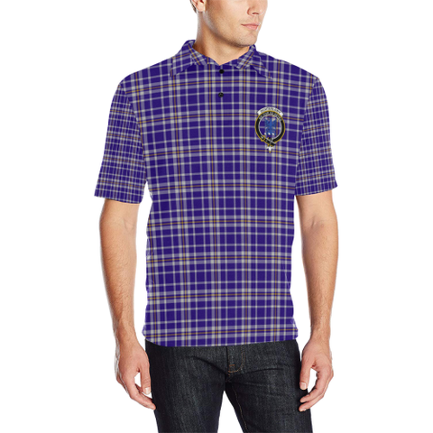 Image of Ochterlony Tartan Clan Badge Polo Shirt