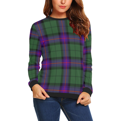Image of Armstrong Modern Tartan Crewneck Sweatshirt TH8
