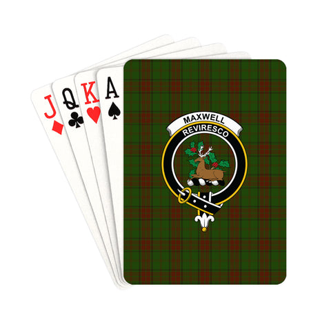 Image of Maxwell Hunting Tartan Clan Badge Playing Card | scottishclans.co