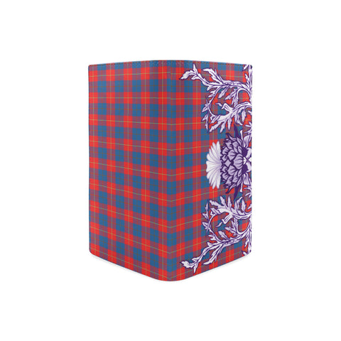 Galloway Red Tartan Wallet Women's Leather Thistle A91