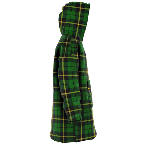 Wallace Hunting - Green Snug Hoodie - Unisex Tartan Plaid Right