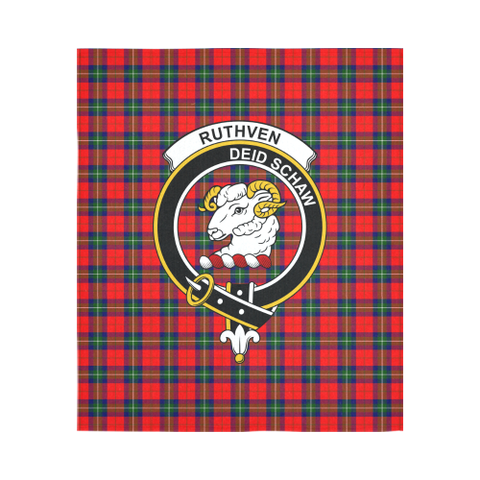 Ruthven Modern Tartan Tapestry Clan Badge | Scottish Clans