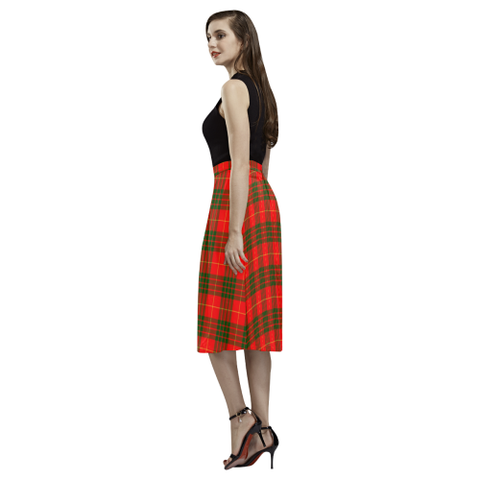 Image of Cameron Modern Tartan Aoede Crepe Skirt | Exclusive Over 500 Tartan