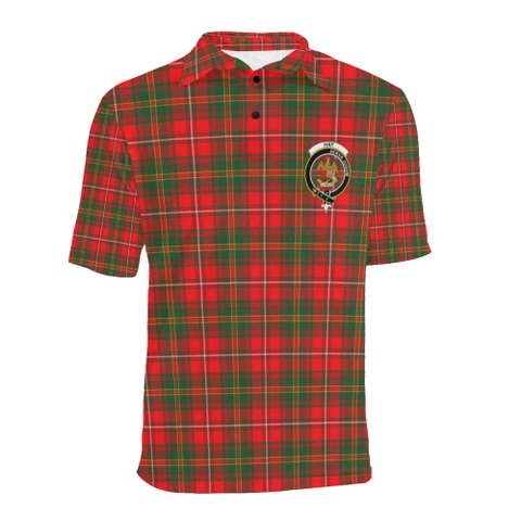 Hay Modern Tartan Clan Badge Polo Shirt HJ4