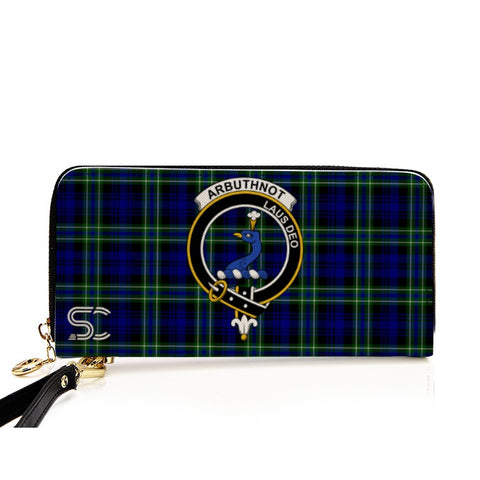 Image of Arbuthnot Crest Tartan Zipper Wallet