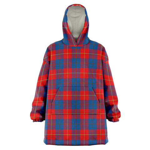 Galloway Red Snug Hoodie - Unisex Tartan Plaid Front