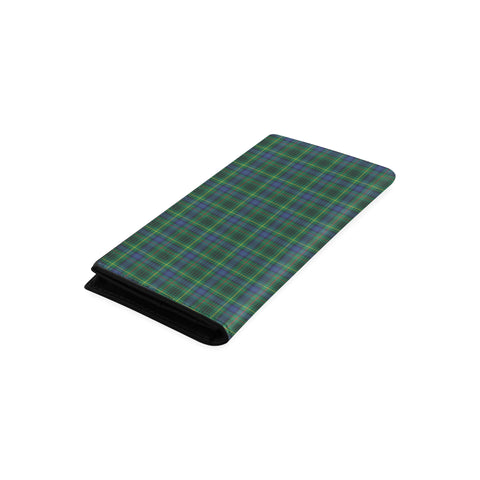 Stewart Hunting Modern Tartan Wallet Women's Leather Thistle A91