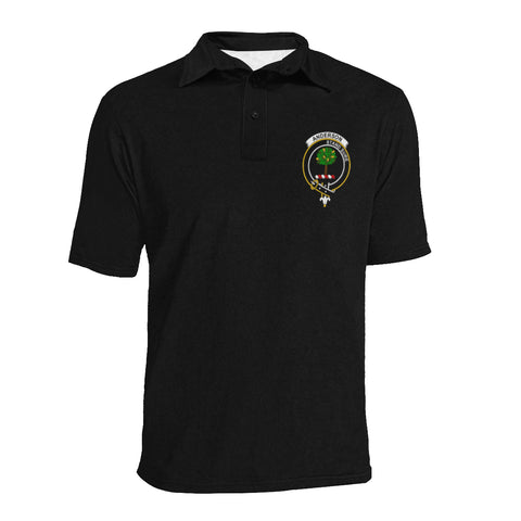 Anderson Tartan Polo Shirt In Me - Clan Badge K7