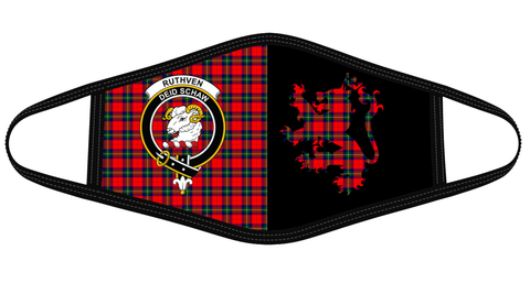 Ruthven Modern Clan Badge Lion Mask Tartan Version 2 K6