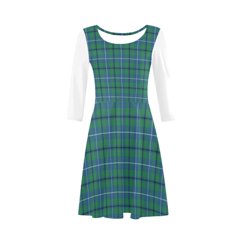 Image of Douglas Ancient Tartan 3/4 Sleeve Sundress | Exclusive Over 500 Clans