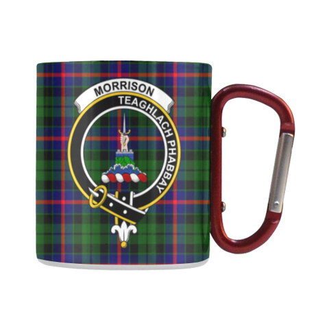 Morrison Modern Tartan Mug Classic Insulated - Clan Badge | scottishclans.co