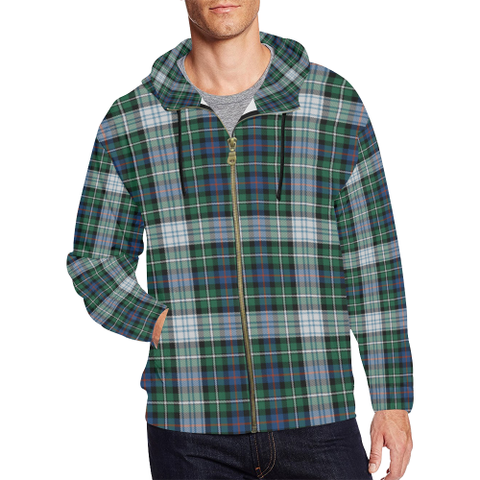 MacKenzie Dress Ancient Tartan Zipped Hoodie | Special Custom Products