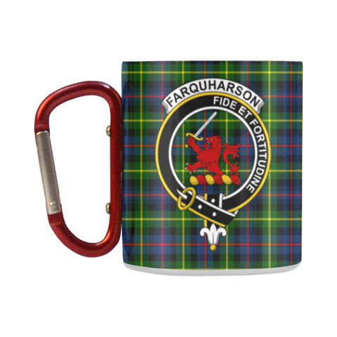 Farquharson Modern Tartan Mug Classic Insulated - Clan Badge K7