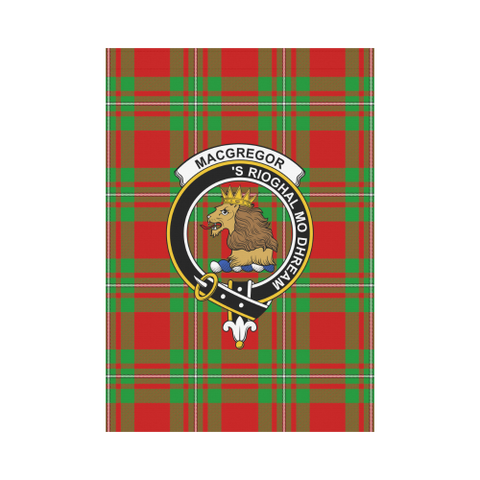 Macgregor Modern Tartan Flag Clan Badge | Scottishclans.co