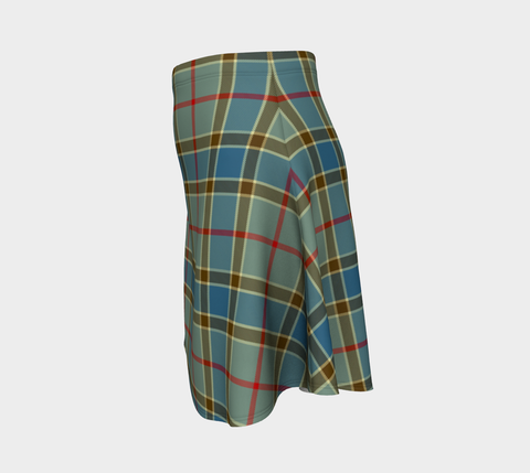 Tartan Flared Skirt - Balfour Blue |Over 500 Tartans | Special Custom Design | Love Scotland