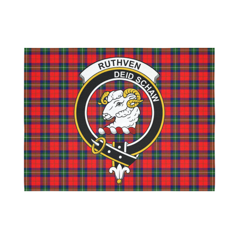 Ruthven Modern Tartan Tapestry Clan Badge K7