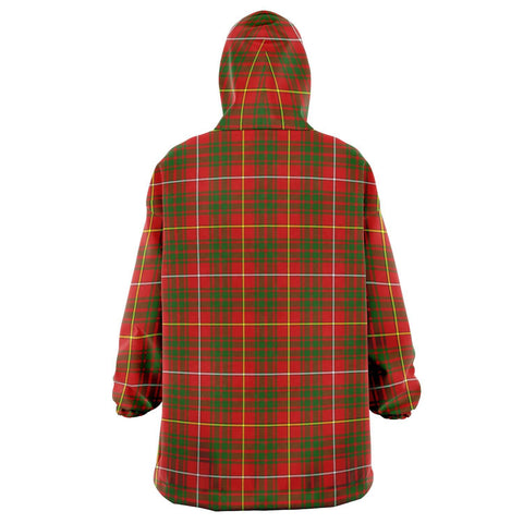 Image of Bruce Modern Snug Hoodie - Unisex Tartan Plaid Back