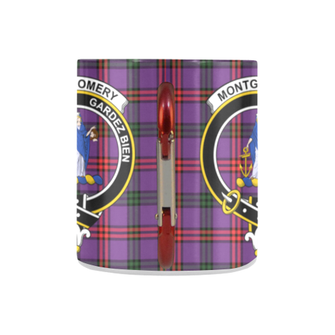 Image of Montgomery Modern Tartan Mug Classic Insulated - Clan Badge K7