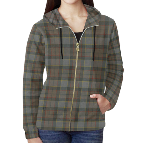 Outlander Fraser Tartan Zipped Hoodie | Special Custom Products