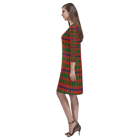 Tartan dresses - Skene Modern Tartan Dress - Round Neck Dress TH8