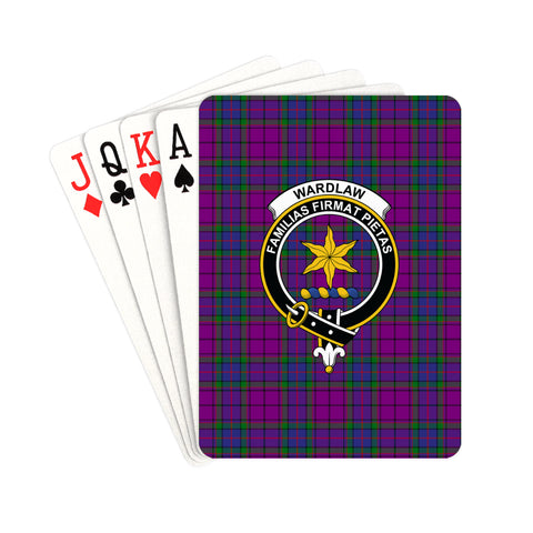 Wardlaw Modern Tartan Clan Badge Playing Card | scottishclans.co