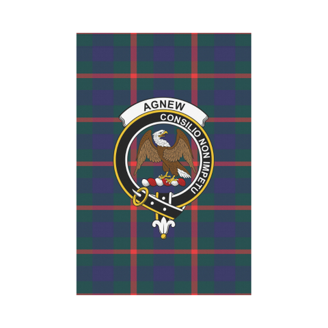 Agnew Modern Tartan Flag Clan Badge | Scottishclans.co