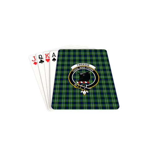 Tweedside District Tartan Clan Badge Playing Card TH8