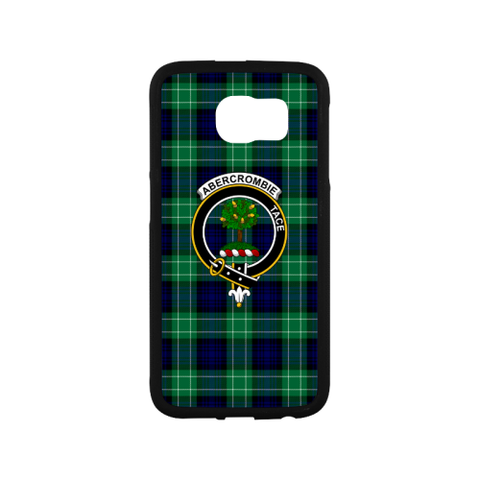 Abercrombie Tartan Clan Badge Rubber Phone Case TH8