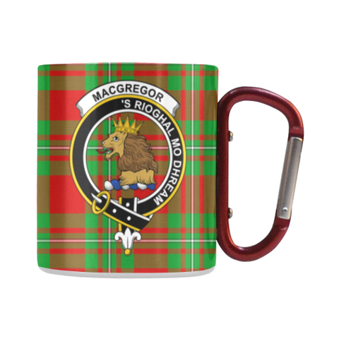 Macgregor Modern Tartan Mug Classic Insulated - Clan Badge | scottishclans.co