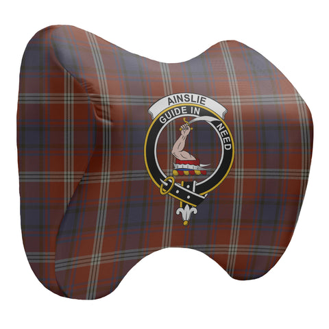 Ainslie Tartan Head Cushion Clan Badge K7
