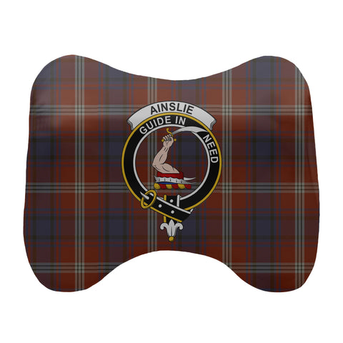 Ainslie Tartan Head Cushion Clan Badge scottishclans.co