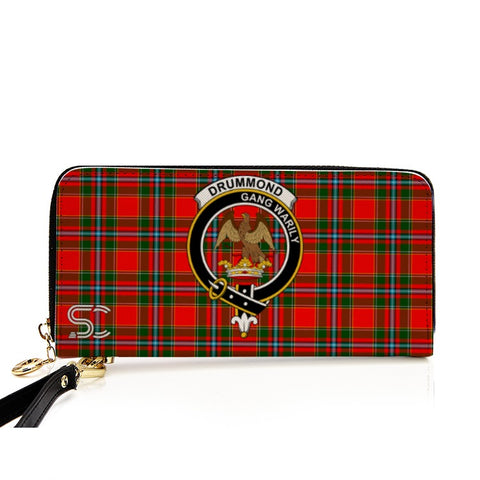 Drummond Of Perth Crest Tartan Zipper Wallet