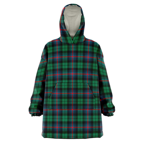 Urquhart Broad Red Ancient Snug Hoodie - Unisex Tartan Plaid Front