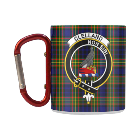 Clelland Modern  Tartan Mug Classic Insulated - Clan Badge K7