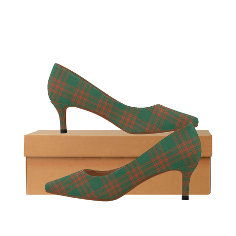 Menzies Green Ancient Tartan High Heels, Menzies Green Ancient Tartan Low Heels