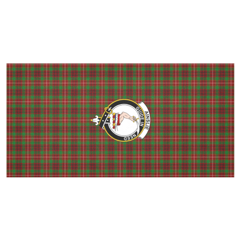 Image of Ainslie Crest Tartan Tablecloth | Home Decor
