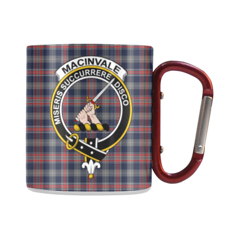 MacInvale Tartan Mug Classic Insulated - Clan Badge | scottishclans.co