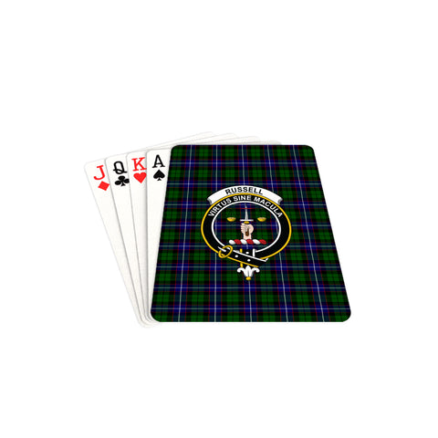 Image of Russell Modern Tartan Clan Badge Playing Card TH8