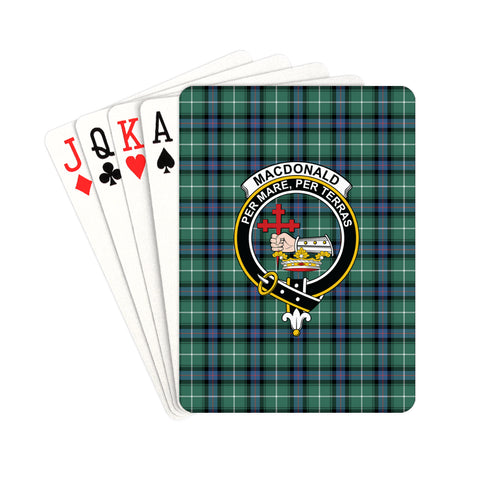 MacDonald of the Isles Hunting Ancient Tartan Clan Badge Playing Card | scottishclans.co