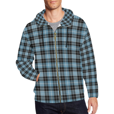 Clark Ancient Tartan Zipped Hoodie | Special Custom Products
