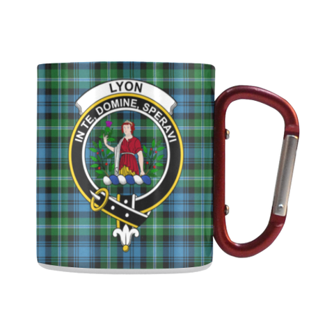 Lyon Clan Tartan Mug Classic Insulated - Clan Badge | scottishclans.co