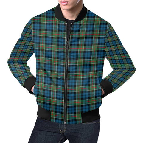Image of Colquhoun Ancient Tartan Bomber Jacket | Scottish Jacket | Scotland Clothing