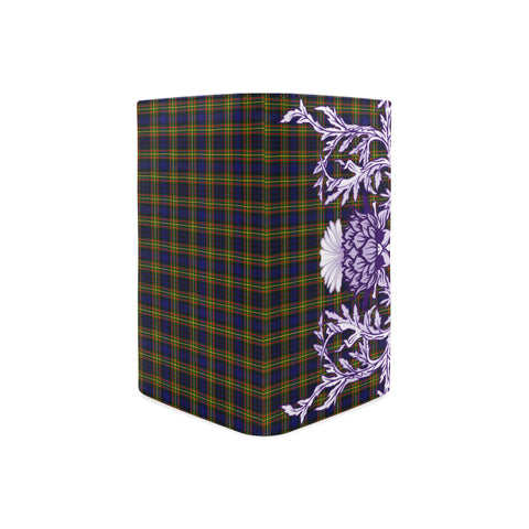 Image of MacLellan Modern Tartan Wallet Women's Leather Thistle A91