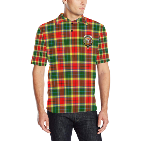 Gibbs Tartan Clan Badge Polo Shirt