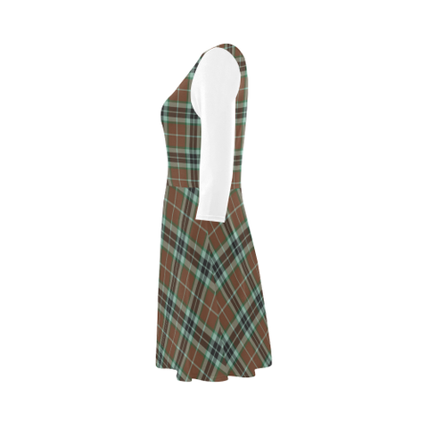 Thomson Hunting Modern Tartan 3/4 Sleeve Sundress | Exclusive Over 500 Clans